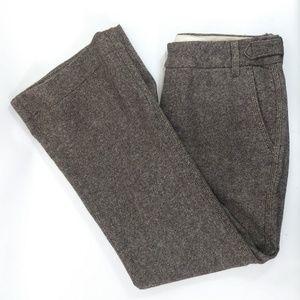 Banana Republic Tweed Trousers Brown Sz6  L7